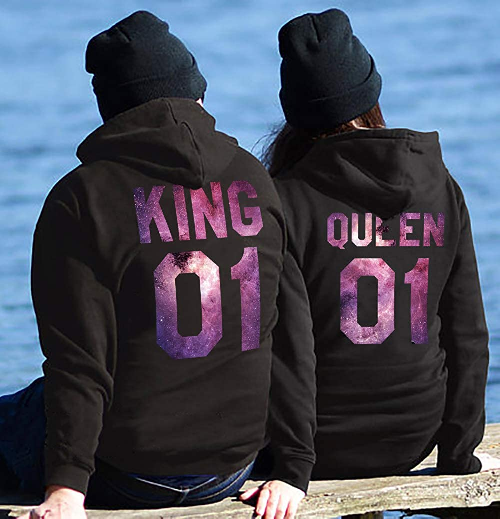 Tabiekacl King Queen 01 Hoodies Partner Look Pärchen Pärchen Pärchen Hoodie Set Sweatshirt 2 Stücke B07GFB7WTC Kapuzenpullover Hohe Sicherheit f75ccd
