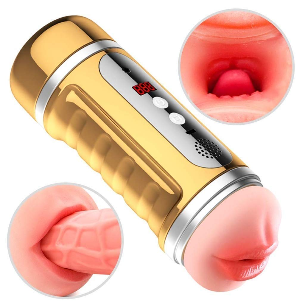 Uudireo Male Sucking Vibrating Toys for Men USB Charging g Electronic Massage Pocket Puss-ey Stroker Pussy Cup Jfjb000061 by Uudireo