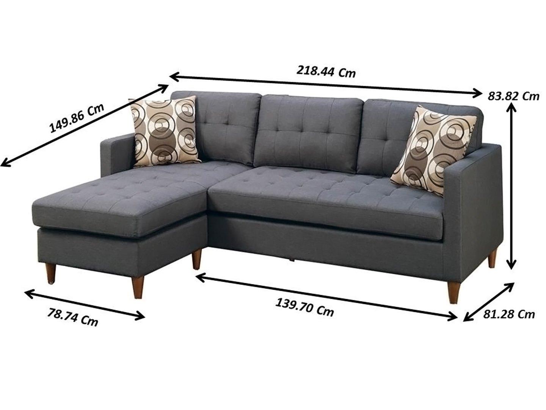 Poundex PDEX-F7094 Sofas, Grey