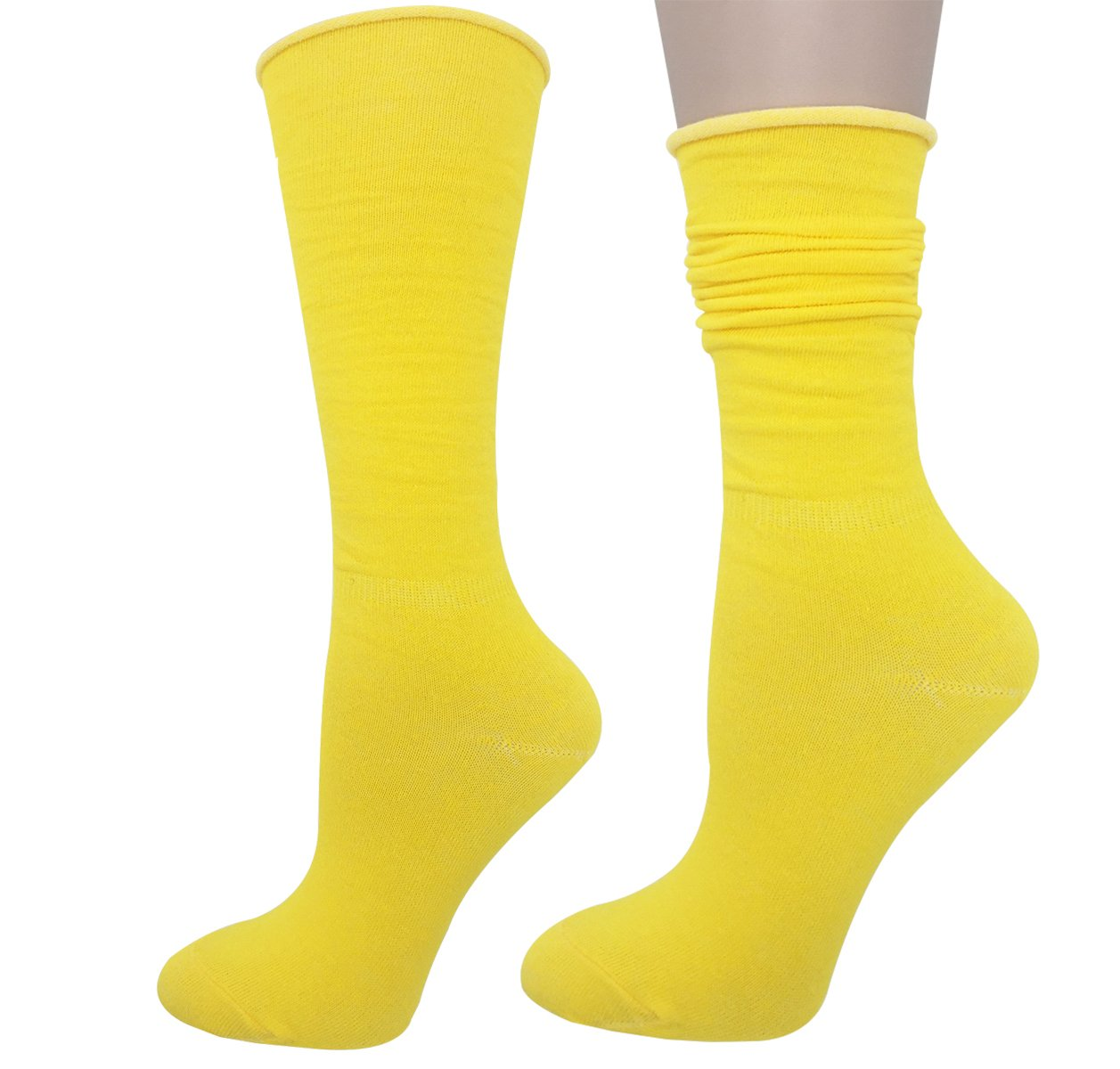 Cityelf Women's Classic Roll Top Cotton Compression Socks (6 pairs, mix) by Cityelf (Image #5)