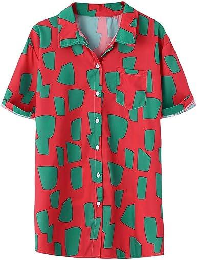 Berimaterry Polos Manga Corta Hombre Manga Corta Básico Polo con Botones Camisa Hawaiana Hombre Camiseta Fruta Floral Estampado Formales Tops Funky Camisa Señores Bolsillo Delantero Impresión Playa: Amazon.es: Ropa y accesorios