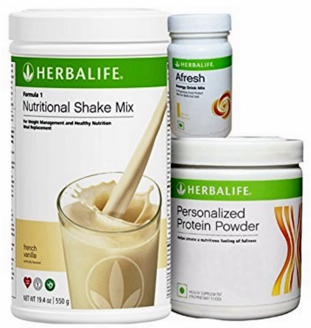 Herbalife Weight Loss Diet Program - Nutritional Shake Protein Powder Mix,  Natural Organic Meal Replacement Shakes for Men and Women (F5 French ...