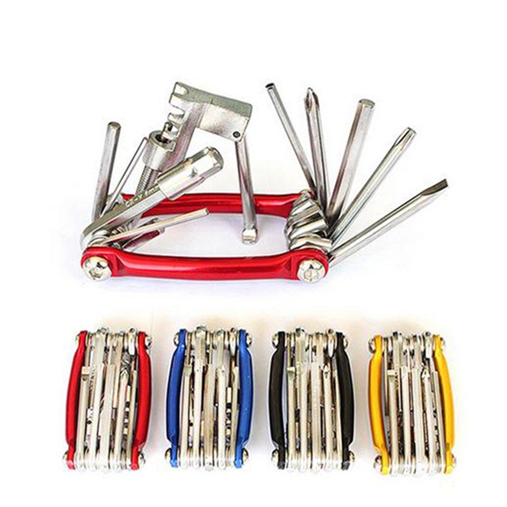 Xunqi 10/in 1/mini kit di riparazione bici strumento pieghevole strumento multi tasca multifunzione bici strumenti essenziali per ciclista