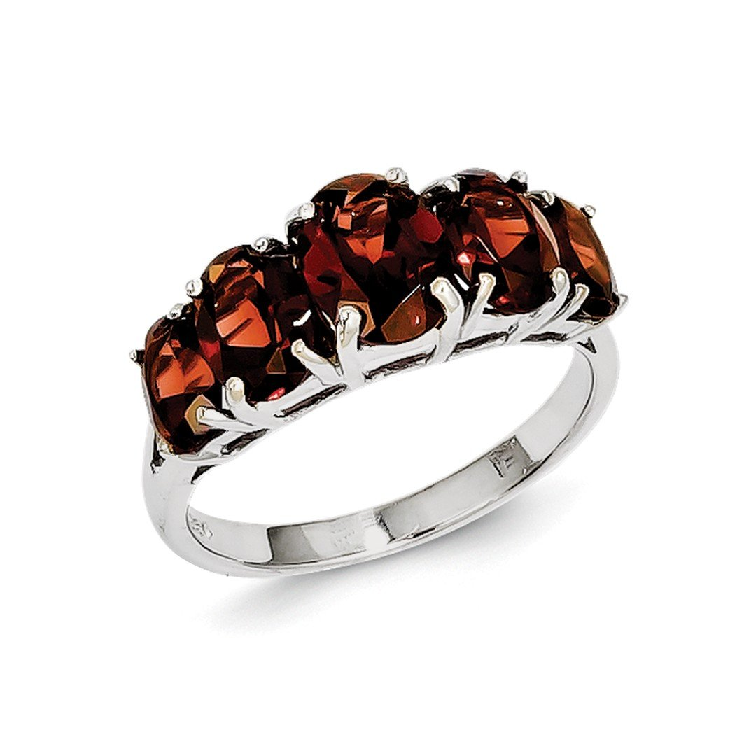 ICE CARATS 925 Sterling Silver Red Garnet Band Ring Size 7.00 Stone Gemstone Fine Jewelry Ideal Gifts For Women Gift Set From Heart