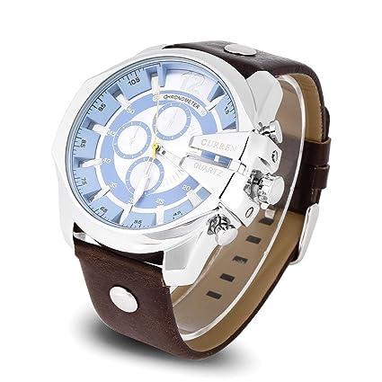 Dilwe Reloj de Cuarzo Reloj de Pulsera de Cuarzo Analógico de 2 Tipos Reloj de Pulsera