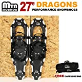 New MTN Extreme Lightweight All Terrian Man Woman Kid Teen Snowshoes up to 255 lbs /Free Bag - WHITE (27'' inch)