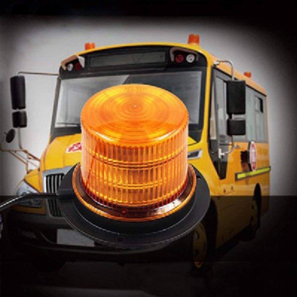 Big Hippo LED Strobe Light Law Enforcement Emergency Hazard Beacon Rotating Beacon Light Amber 48 LED Warning Lights Flashing Beacon Lights with Magnetic for All Vehicle