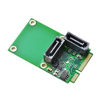 XCSOURCE® Mini PCI-E PCI Express a 2 Puertos SATA 3.0 III Tarjeta de expansión de 6 GB/s Adaptador de conversor de Chip único AC696