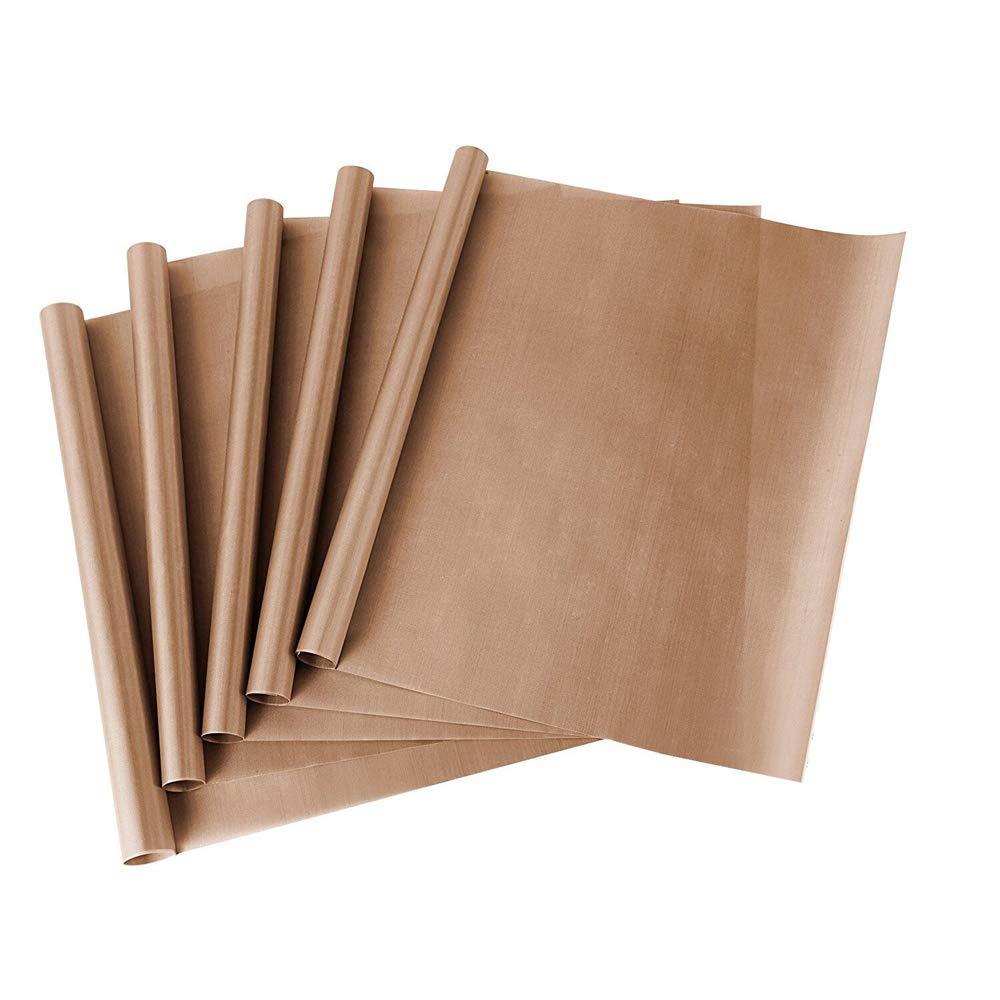 """SS SHOVAN PTFE Teflon Sheet for Heat Press Transfer Sheet Non Stick 16 x 20"""" Heat Resistant Craft Mat, 5 Pack"""
