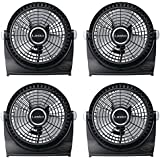 Lasko 507 10 Inch Electric Portable Table & Floor Breeze Machine Fan, 4 Pack