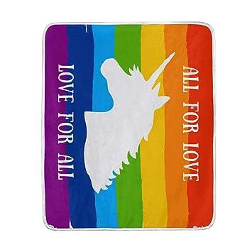 Alaza Rainbow Unicorn Alle Für Liebe Love Für Alle übergroßen