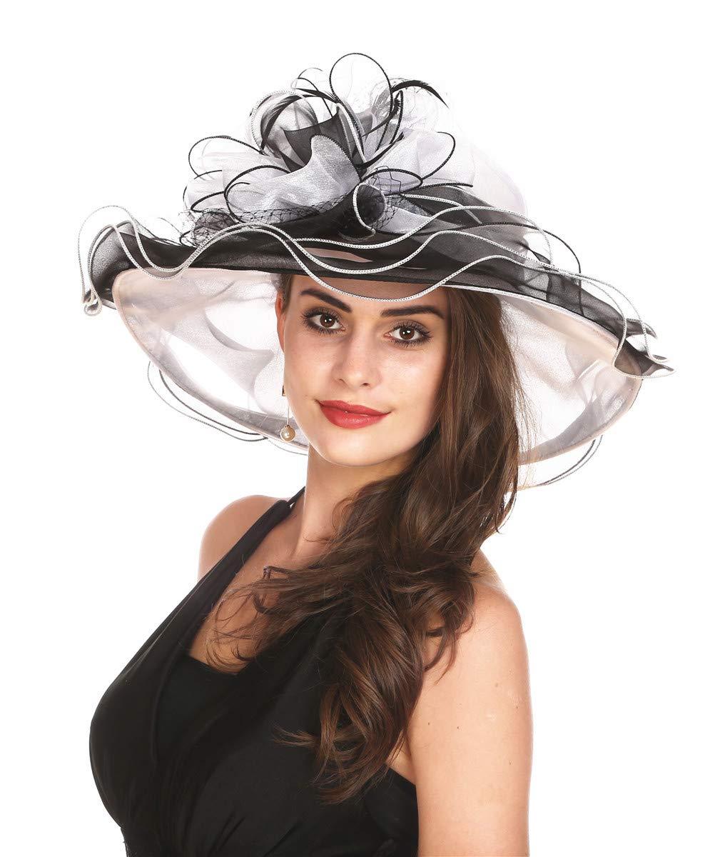 SAFERIN HAT レディース カラー: マルチカラー B078R2RSPY Gz-white+black