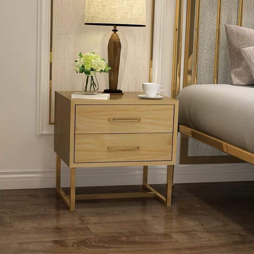 Europäischer Farbe Nachttisch Aus Schmiedeeisen Kleiner Nacht Schlafzimmer Schrank Modernen Minimalistischen Sofa Beistelltisch, 2 Schubladen, 5 Farben, 17.72