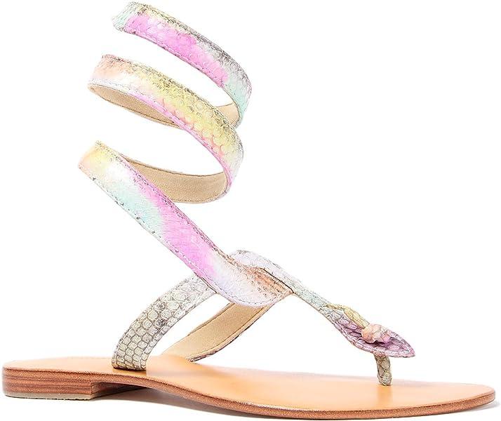 19dc5854d6c05f Cocobelle Women s Snake Ankle Wrap Sandal 8 Multi