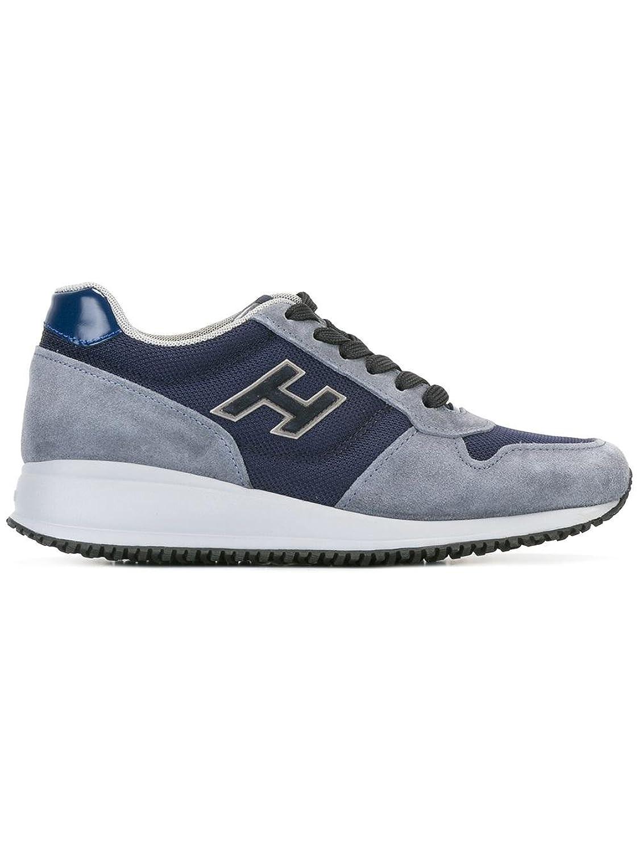 Hogan メンズ HXM2460V580C48873Q ブルー セーム 運動靴 B07BBM167Y