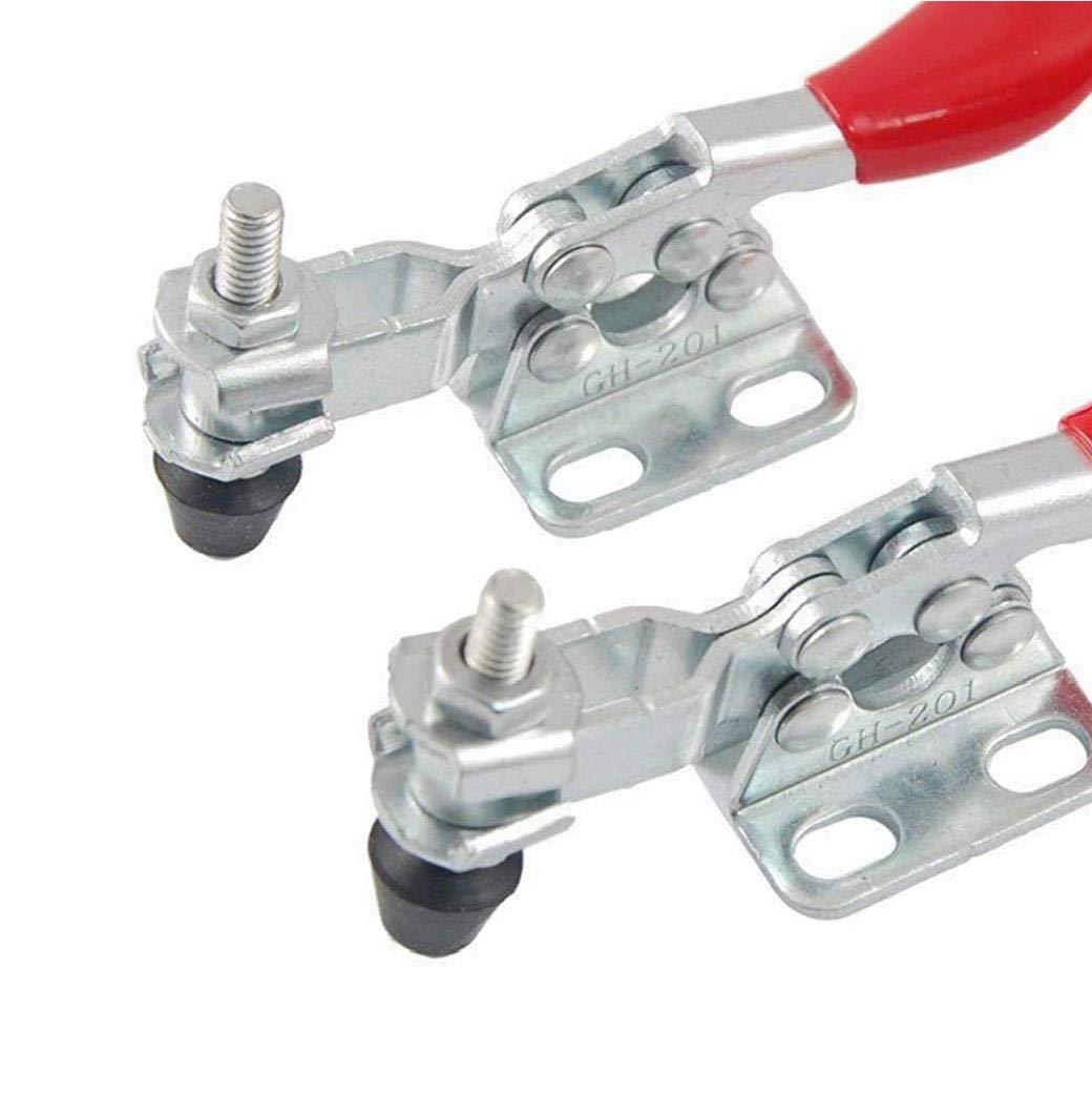 Completa gama de herramientas y de alta calidad de 2 piezas de metal de liberaci/ón r/ápida herramienta de mano Toggle Toggle Clamp Pinza abrazadera horizontal Push Pull Tipo Toggle Clamp