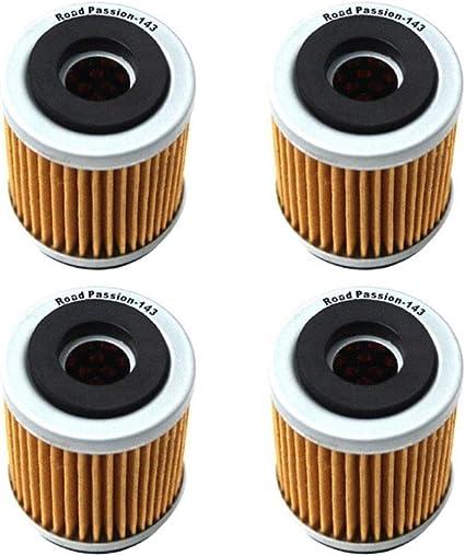 FUWANG Motorrad/ölfilter /Ölfilter for Yamaha AG200 TW200 TW125 TTR125LE TTR230 TTR225 YJ125 Vino XT225 Serow XT125 XT350 XT200 XT250T SR185 /Ölfilter Color : 4pcs
