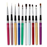 Amazon best sellers the most popular items in nail art pens anself pro 10 piece nail art design brush set for polish uv gel paint prinsesfo Images