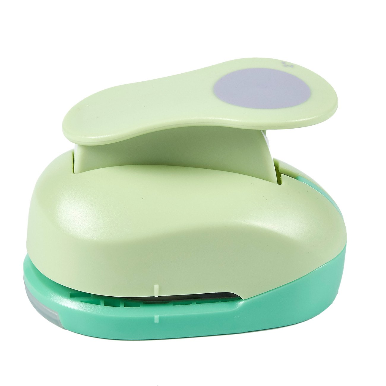 Paper Punch Shapes - Circle-Shaped Hole Puncher for Scrapbook, DIY Craft Project, Kids Artwork, Green, 4.25 x 3.1 x 2.75 inches