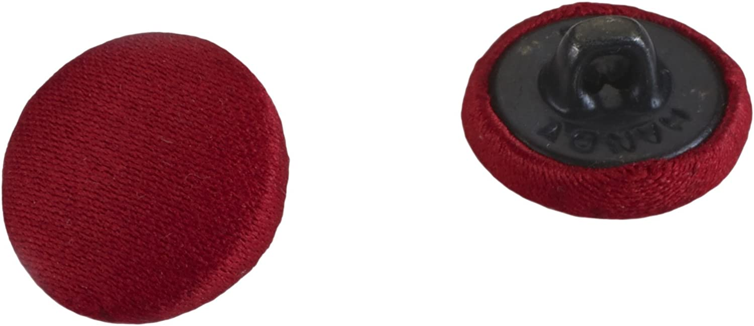"PEARL 24 Count Satin Covered Buttons, 5/8"", Red"