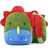 Backpack for Girls with Multi-Pockets School Bookbag Daypack Travel Bag (Dinosaur)