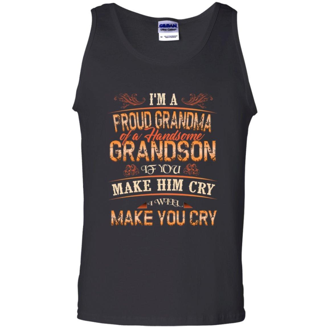 Vinteena Im a Proud Grandma Of a Handsome Grandson Unisex Tanktop Tshirt