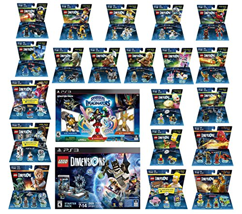 Skylanders Imaginators Starter Pack + Lego Dimensions Starter Pack + The Simpsons Homer + Scooby Doo + Portal 2 + Jurassic World + Back To The Future + 14 Fun Packs Playstation 3 or PS3 Slim Console by WB Lego