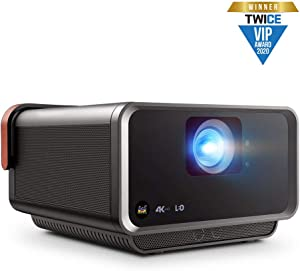 ViewSonic X10-4KE True 4K UHD Short Throw LED Portable Smart Wi-Fi Home Theater Projector Compatible with Amazon Alexa and Google Assistant