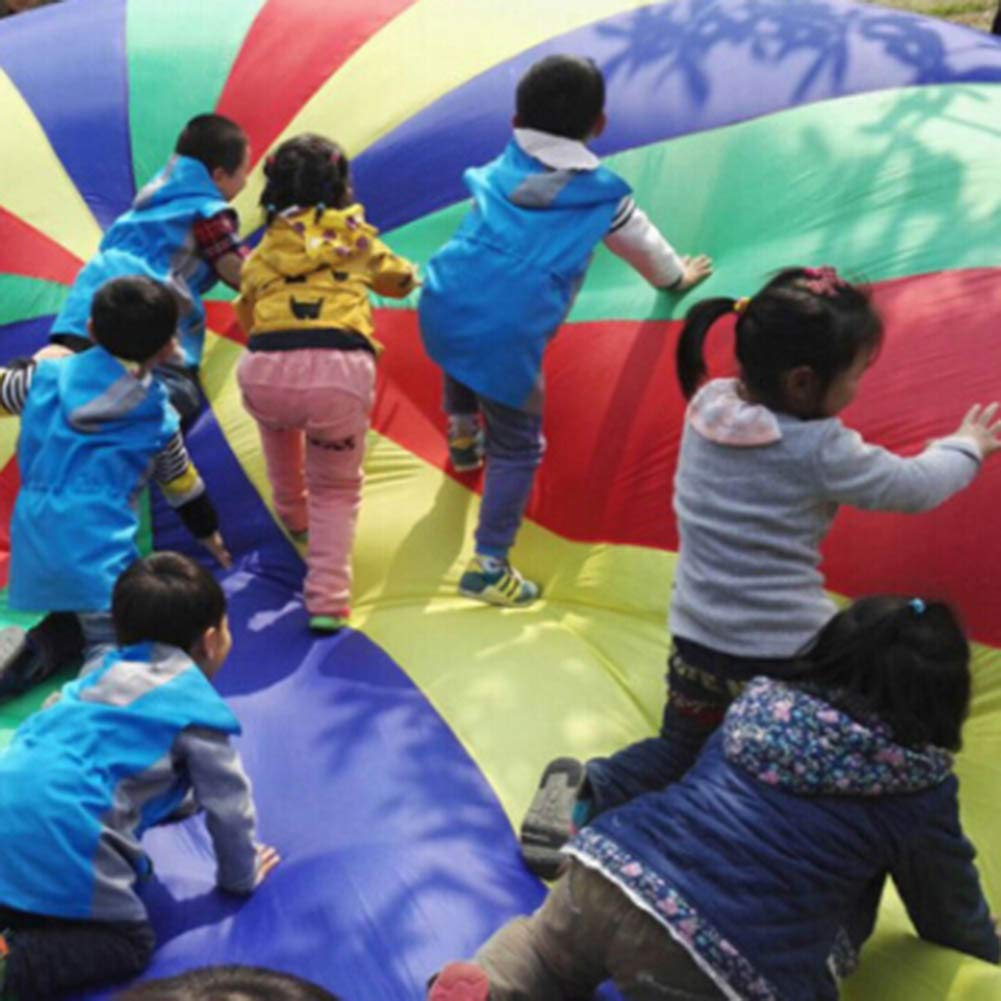 canghai Sports Multi-Colored Children's Team Building Parachute Rainbow Parachute Toy Tent for Children Gymnastic( L ) by canghai (Image #5)