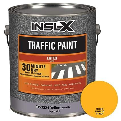 INSL-X TP322409A-01 Acrylic Latex Traffic Paint, 1 Gallon, Yellow