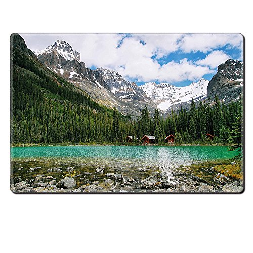 Mouse Pad Unique Custom Printed Mousepad Landscape Canada Ohara Lake Yoho National Park With Mountains Nature Scenery Art Photo Multicolor Stitched Edge Non Slip - Chicago Ohara