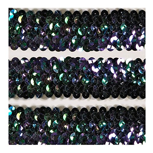 [해외]탄성 스팽글 트림 1¼ X 10YDS/Elastic Sequin Trim 1¼  X 10YDS