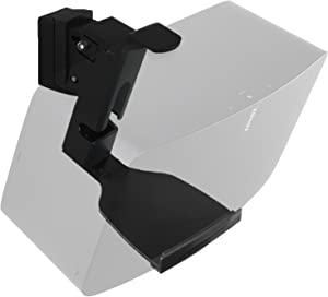 WALI SONOS Speaker Wall Mount Brackets for SONOS Play 5 Gen2 Multiple Adjustments, Hold up to 16 lbs, 7 kg, (SWM002), 1Pack, Black