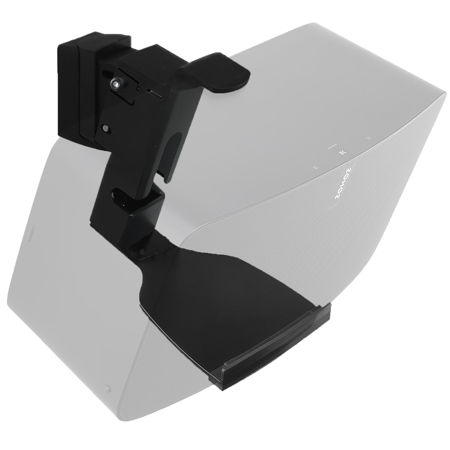 Hold up to 16 lbs 1Pack Black WALI SONOS Speaker Wall Mount Brackets for SONOS Play 5 Gen2 Multiple Adjustments SWM002 7 kg,