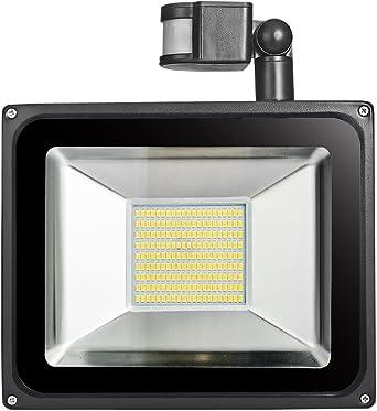 LED emisor exterior con detector de movimiento de 10 hasta 100 vatios de potencia
