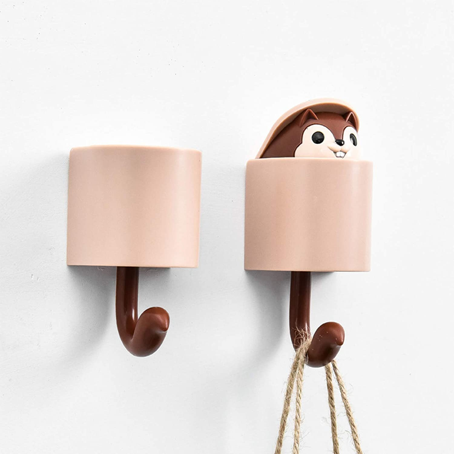 Amazon Com Key Holder For Wall Decorative Lawanva Pop Up Smile Squirrel Wall Key Holder 2 Pcs Brown Office Products