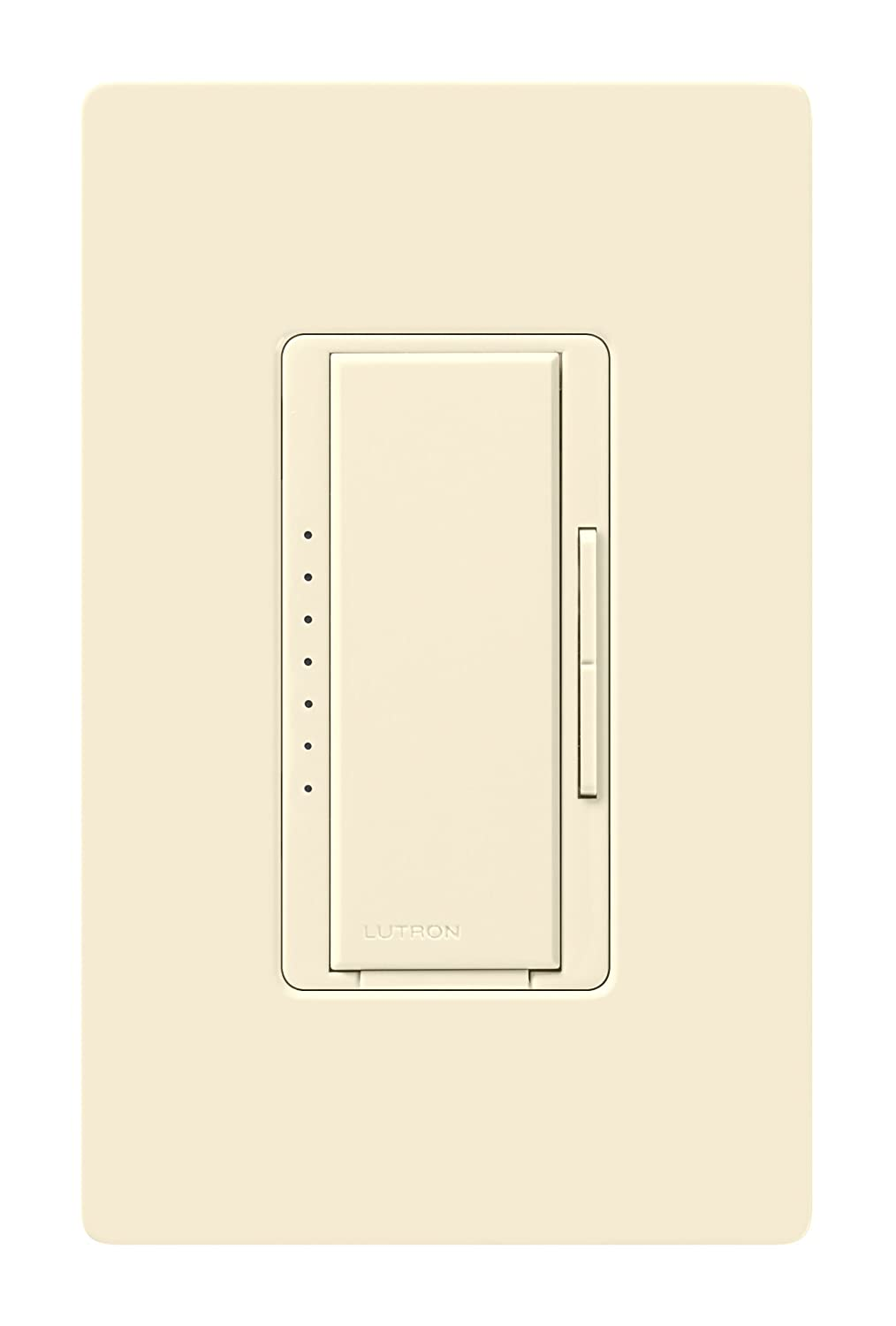 Lutron Maestro C.L Dimmer Switch for Dimmable LED, Halogen & Incandescent Bulbs, Single-Pole or Multi-Location, MACL-153M-LA, Light Almond