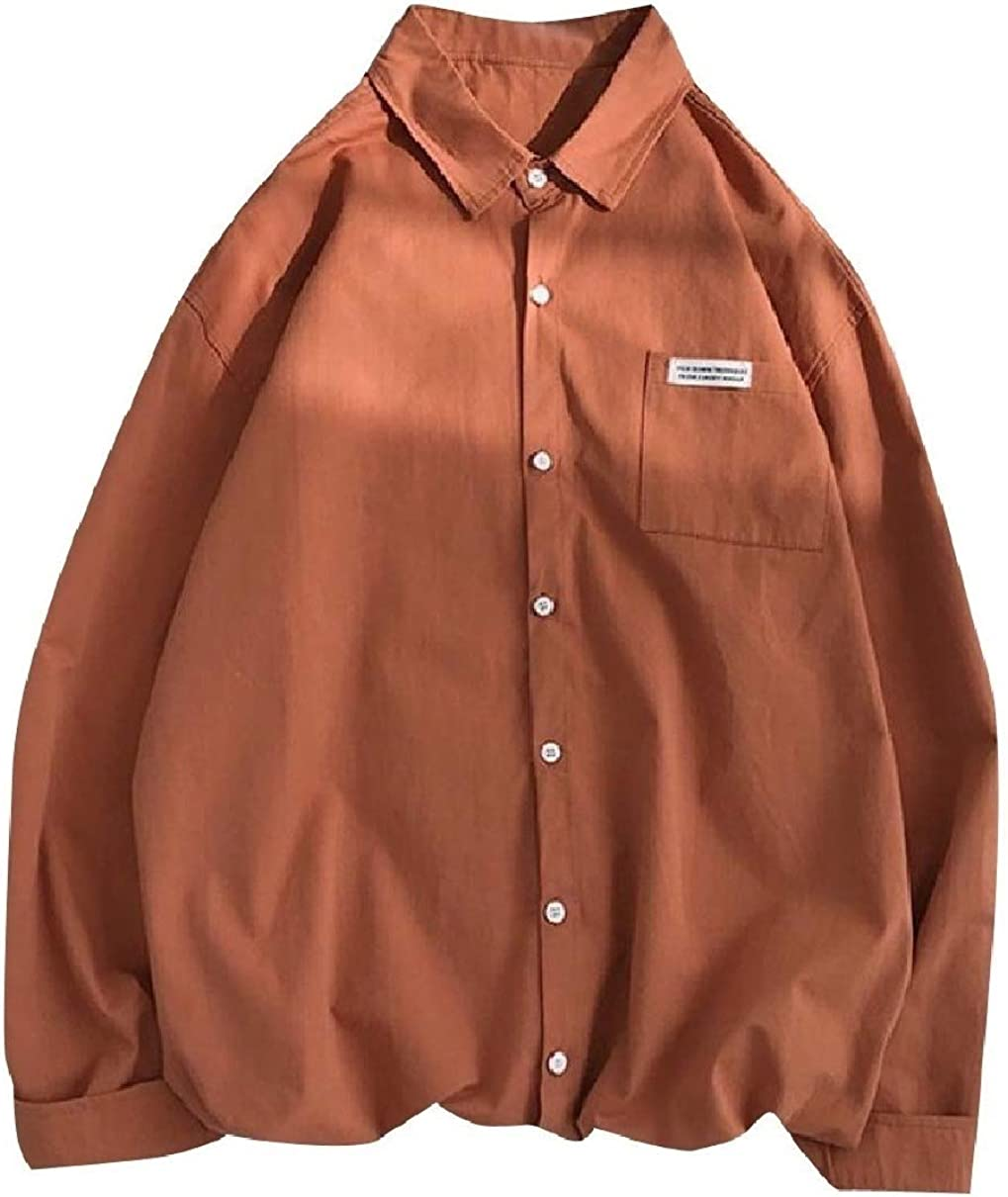 Coolred-Men Regular-Fit Long-Sleeve Button Down Back Cotton Work Shirt