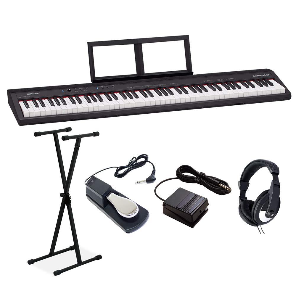 Roland GO-88P セミウェイト 88鍵盤 Xスタンドダンパーペダルヘッドホンセット ローランド   B07NGLMHB1