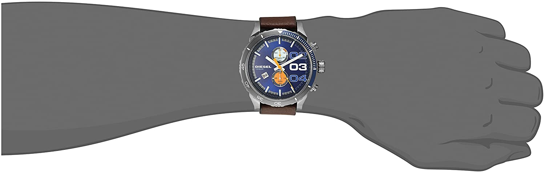 c357d5542 Diesel Men's Quartz Watch, Analog Display and Leather Strap DZ4350:  Amazon.ae