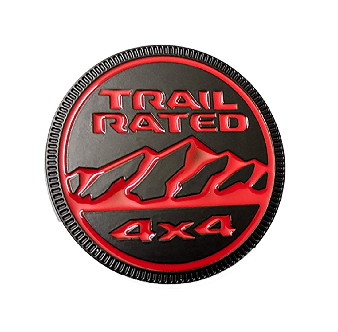 Silver Zcardon 1x Jeep Trail Rated 4/×4 Trunk Tailgate Fender 3D Metal Emblem Badge Logo Replacement for Jeep Wrangler 2009-2017