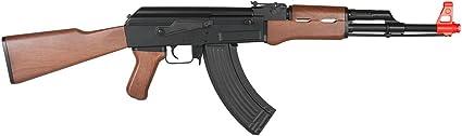 Black Lancer Tactical LT-16A AK-47 Airsoft Rifle AEG Metal Gear 415-FPS