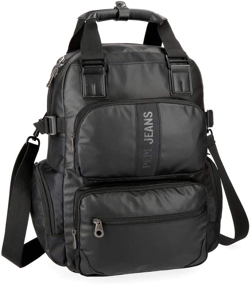 Mochila casual Pepe Jeans Bromley Negra 13,3