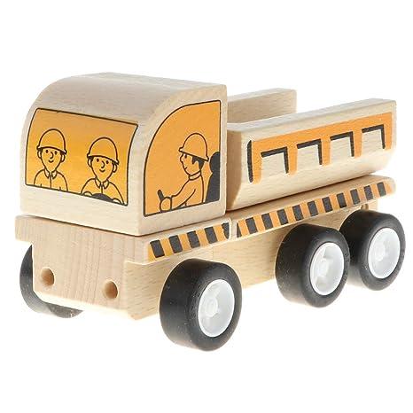 Flameer - Maqueta de coche (madera) Kipper: Amazon.es: Bebé