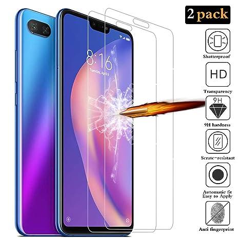 ANEWSIR [2 Pack Protector de Pantalla para Xiaomi Mi 8 Lite, Cristal Templado Xiaomi
