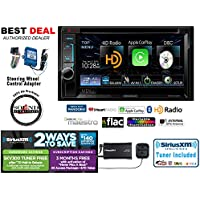 Kenwood DDX6702S DVD Receiver with ApplePlay and SiriusXM SXV300v1 packaged with SWI-RC Steering Wheel Control Interface and a FREE SOTS Air Freshener