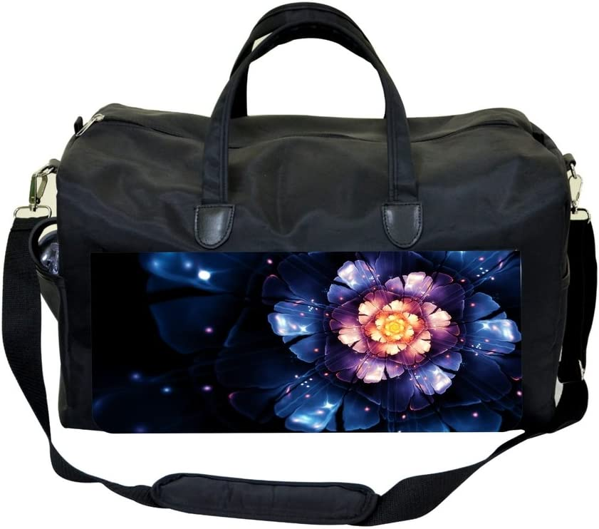 Purle Vectorial Flower Sports Bag