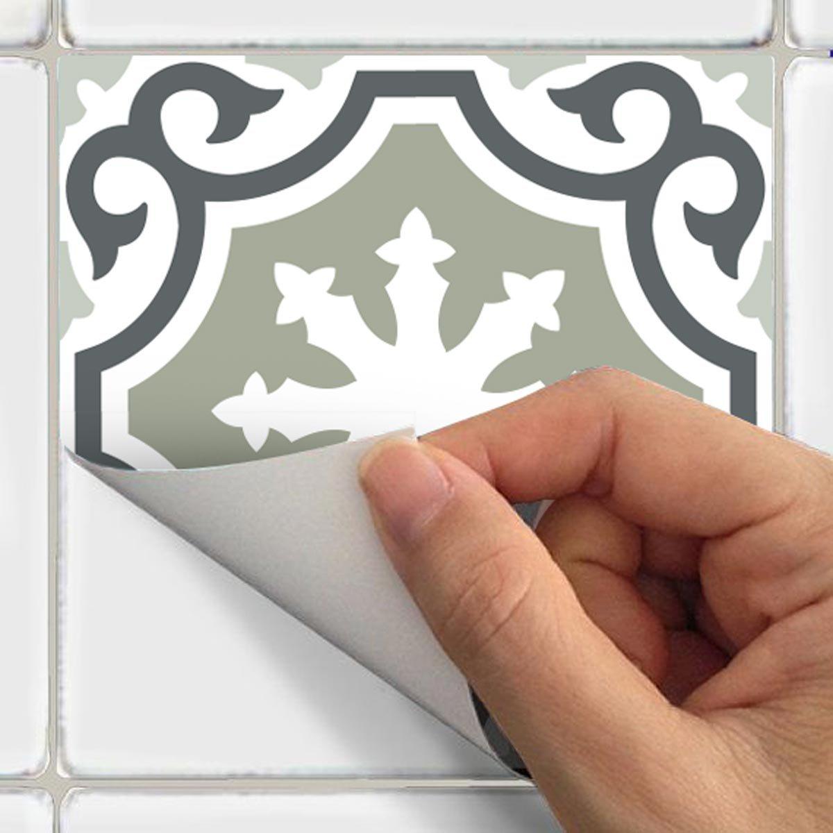 20 x 20 cm 30 pi/èces Stickers adh/ésifs carrelages muraux azulejos