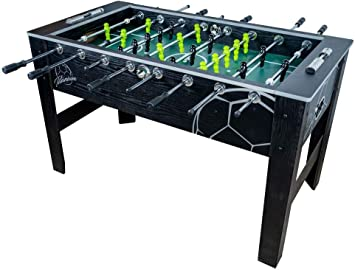 Devessport - Futbolín Titanium Black Ideal para Jugar con Amigos - Gran tamaño - Patas con Mayor Estabilidad - Barras