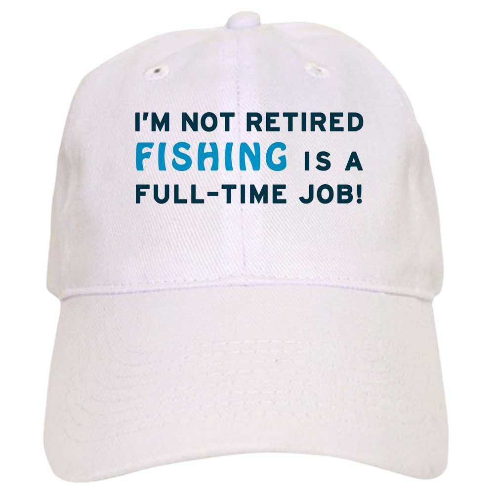 a9d79b42e49f8 Amazon.com  CafePress - Retired Fishing Gag Gift Cap - Baseball Cap with  Adjustable Closure